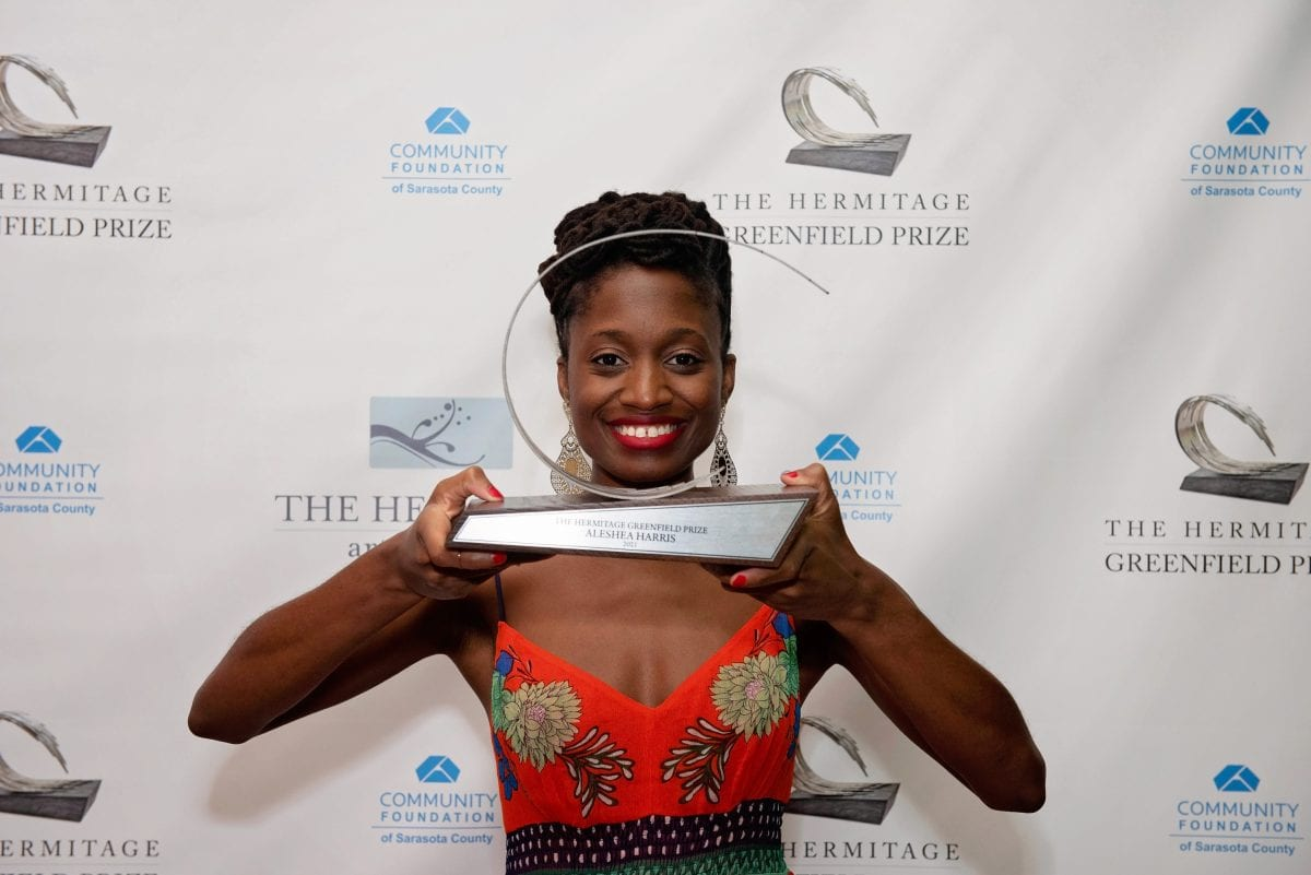 Playwright Aleshea Harris Celebrated at Hermitage Greenfield Prize Dinner on April 11